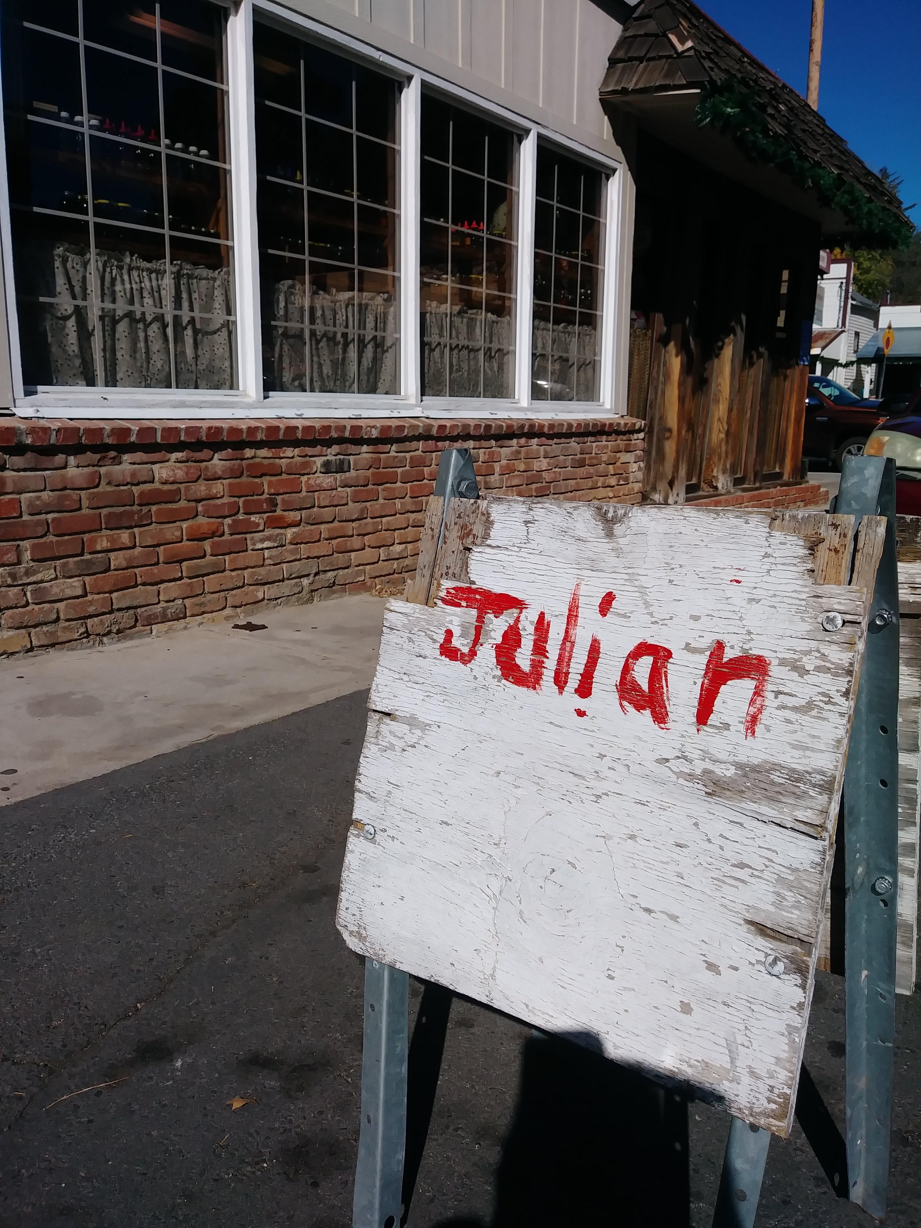 "Small cute town called ""Julian"""