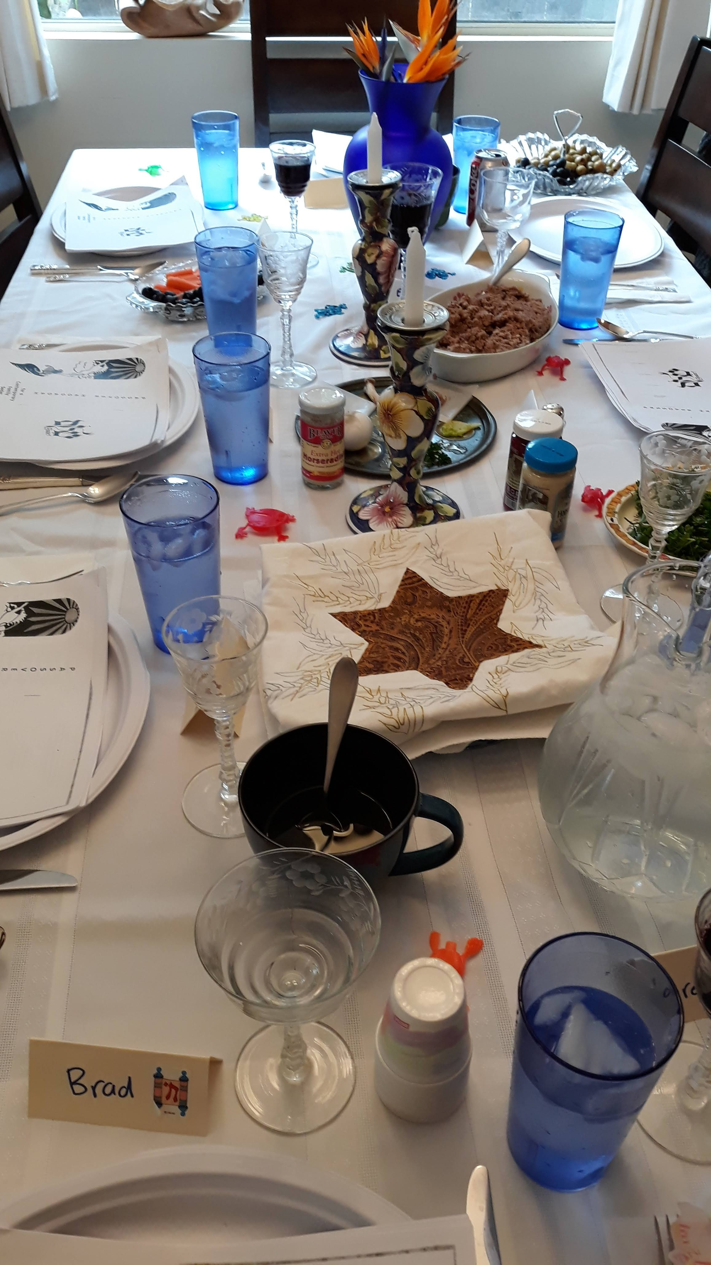 """The biggest Jewish ceremony at home is the """"Passover"""" Seder."""